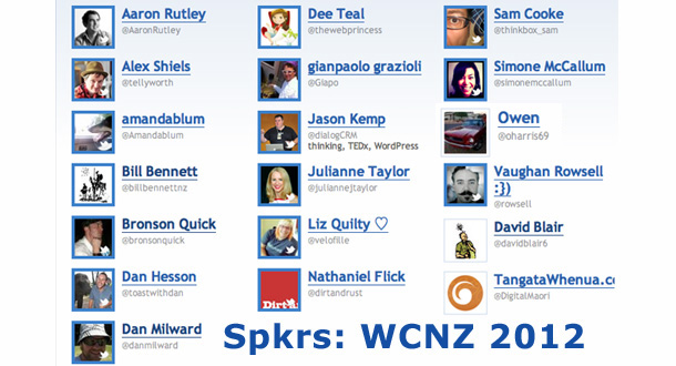 Speakers at WordCampNZ 2012