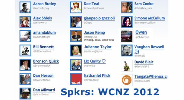 Speakers at WordCampNZ 2012